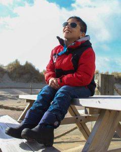 Een kind met Cerebrale Parese Jayden